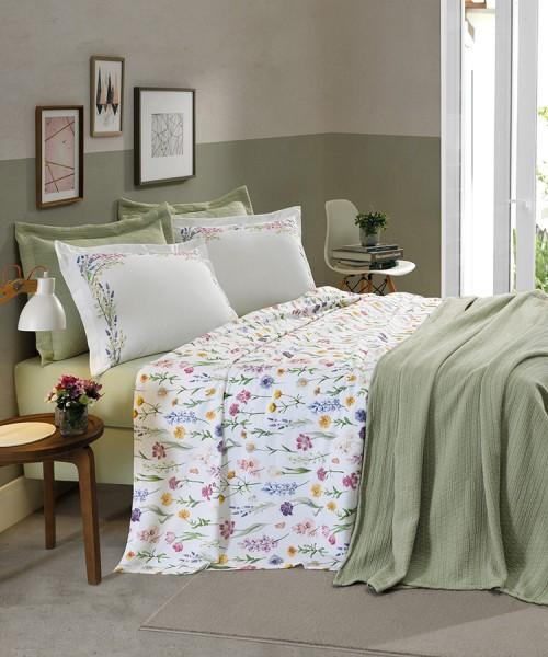 Jogo de cama King 180 fios 100% algodão Diana - Dohler