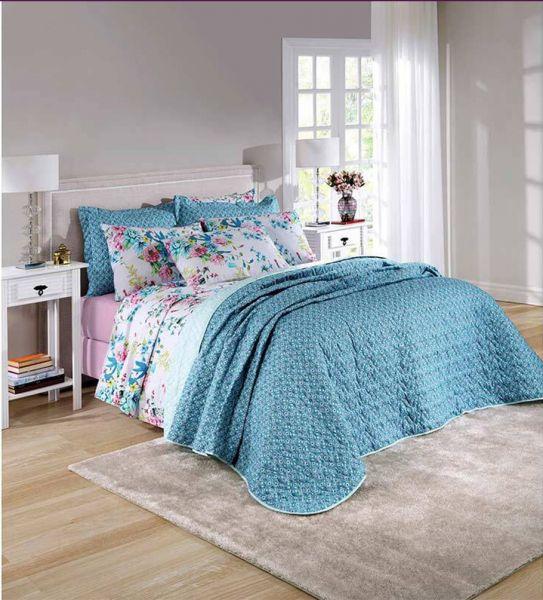 Jogo de cama king size Unique 180 fios 100% algodão estampado Glass 2 - Santista