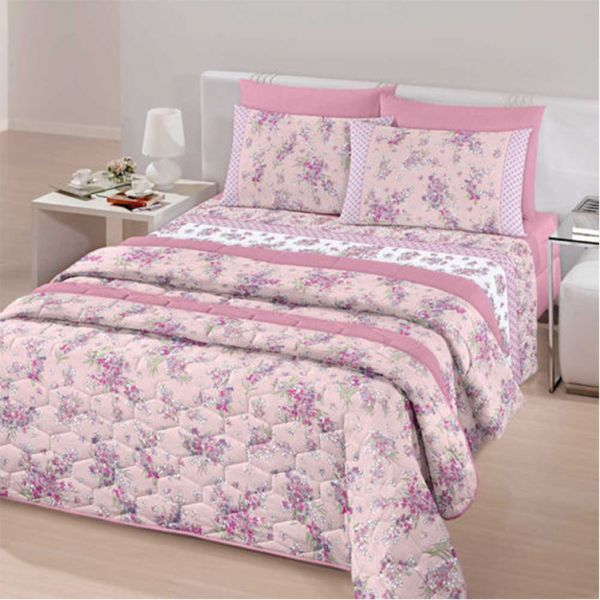 Jogo de cama queen Royal Leila 100% algodão estampado - Santista
