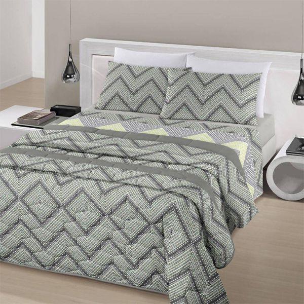 Jogo de cama queen size Royal Leny 100% algodão estampado - Santista