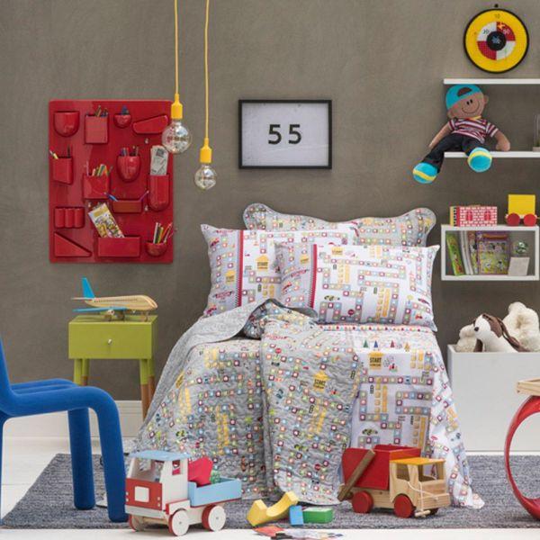Jogo de cama solteiro infantil Royal Game 100% algodão estampado - Santista