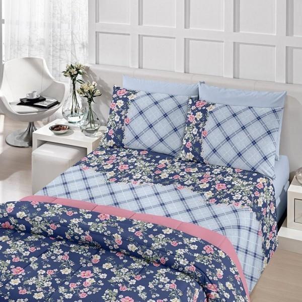 Jogo de cama Solteiro Royal 100% algodão estampado Rita - Santista