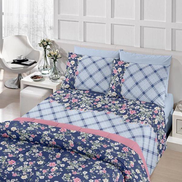 Jogo de cama solteiro Royal Rita 100% algodão estampado - Santista