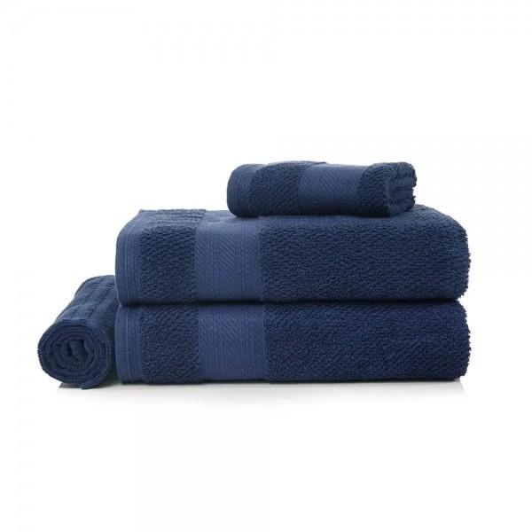 Jogo de Toalha de Banho 4 peças Empire Azul Marinho - Karsten
