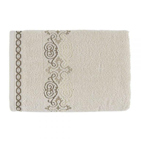 Toalha de banho Elara Bege/Marrom - Kasten