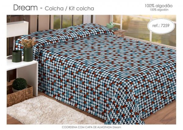 Kit colcha queen estampada colorido - Dream