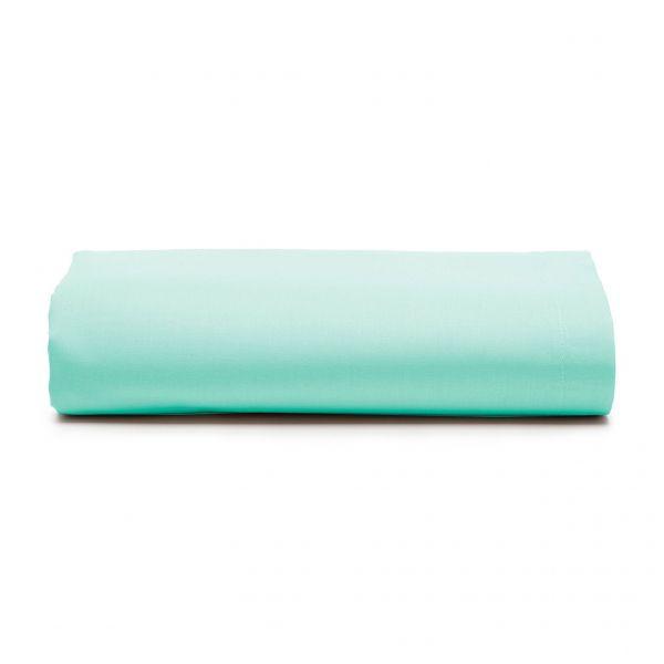 Lençol com elástico queen size Prata 150 fios 100% algodão Água - Santista