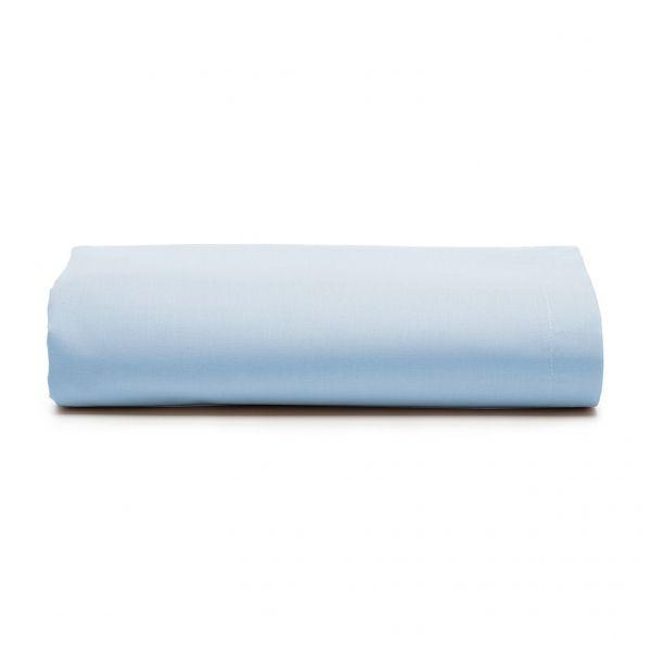 Lençol com elástico queen size Prata 150 fios 100% algodão Azul - Santista