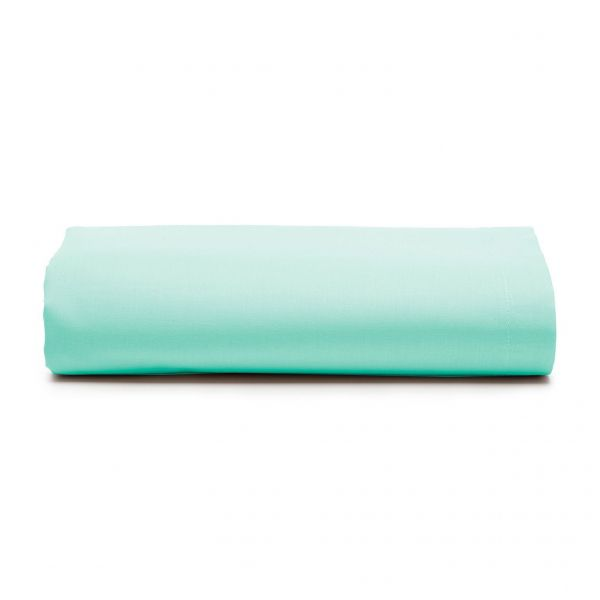 Lençol com elástico solteiro Prata 150 fios 100% algodão Água - Santista