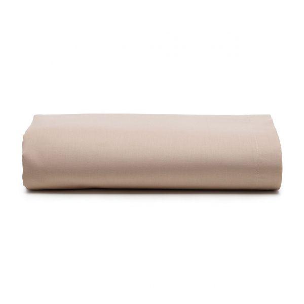 Lençol com elástico solteiro Prata 150 fios 100% algodão Bege - Santista