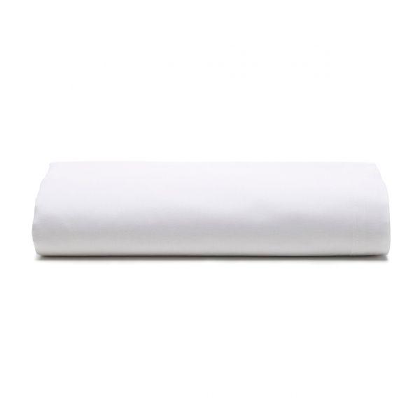 Lençol com elástico solteiro Prata 150 fios 100% algodão Branco - Santista