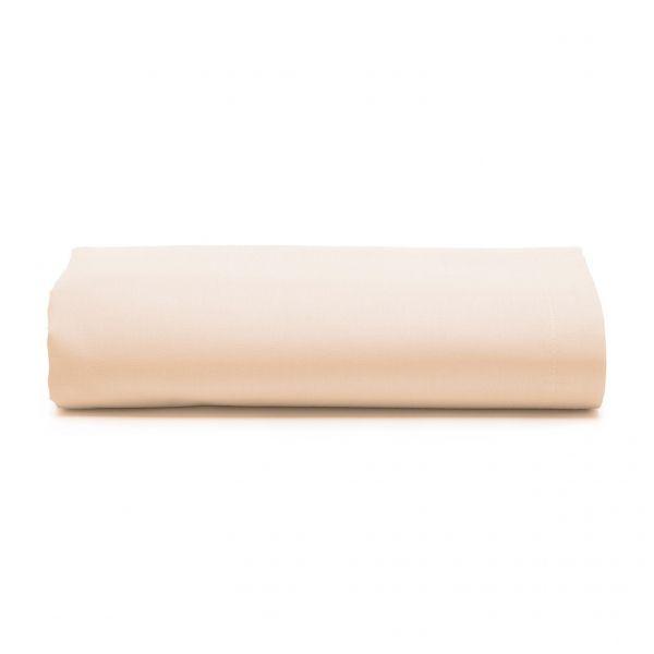 Lençol com elástico solteiro royal 100% algodão Bege - Santista