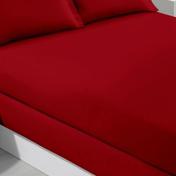 Lençol solteiro com elástico Buettner 100% algodão 200 fios - Bordô