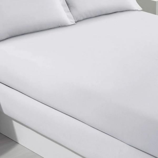 Lençol solteiro com elástico Buettner 100% algodão 200 fios - Branco