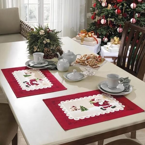 Lugar Americano de Natal Estampado Dohler - Papai Noel
