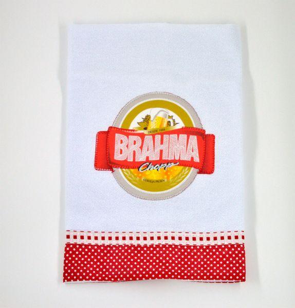 Pano de prato estampado cerveja Brahma
