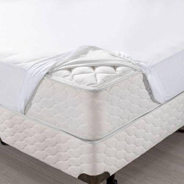 Protetor de colchão impermeável casal - Protege Plus Santista