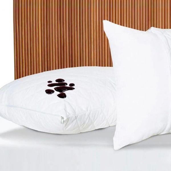 Protetor de travesseiro impermeável 150 fios branco - estamparia