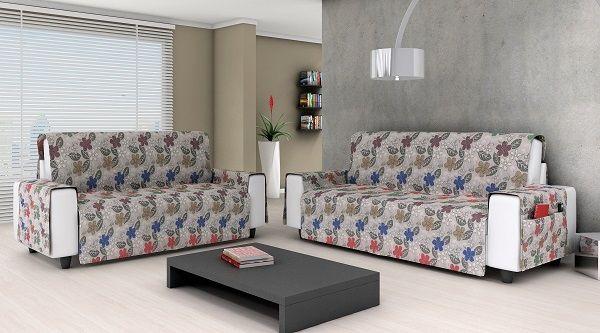 Protetor de sofá para 2 e 3 lugares - Cinza - Adomes