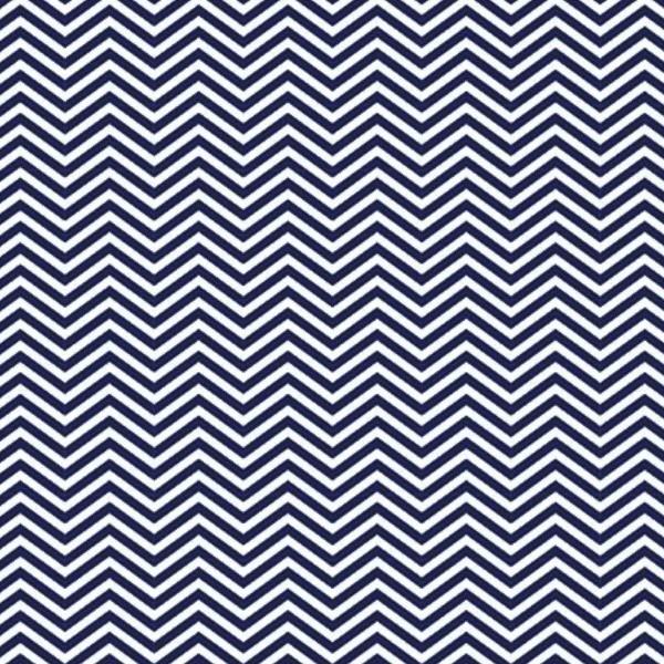 Tecido Tricoline estampado Chevron azul marinho