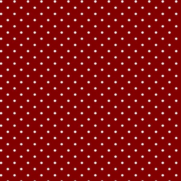 Tecido Tricoline estampado Poá Branco fundo vermelho