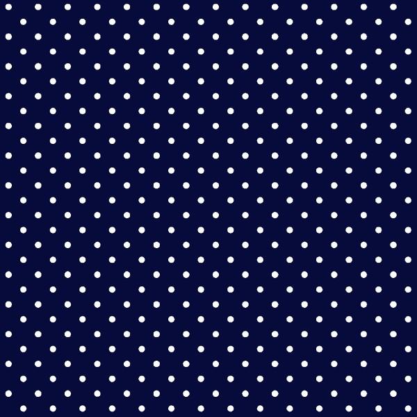 Tecido Tricoline estampado Poá Branco fundo azul marinho