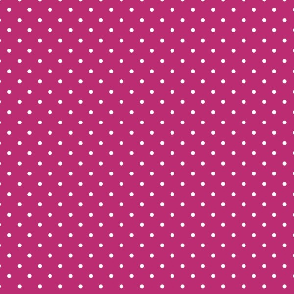 Tecido Tricoline estampado Poá Branco fundo Pink