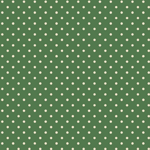 Tecido Tricoline estampado Poá branco fundo verde
