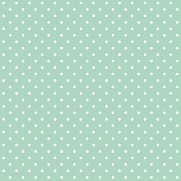 Tecido Tricoline estampado Poá Branco fundo verde claro