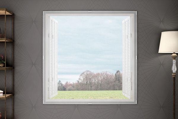 Tela mosquiteira para janela - Branco vários tamanhos - Adomes