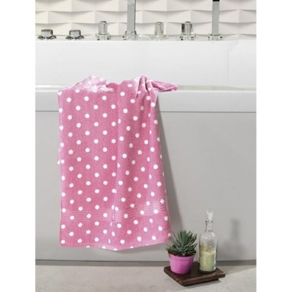 Toalha de Banho 100% algodão Dohler Prisma - Poá Rosa