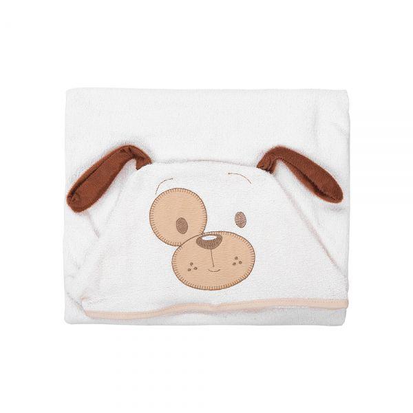 Toalha de banho bebê com capuz Cachorrinho - Baby Joy