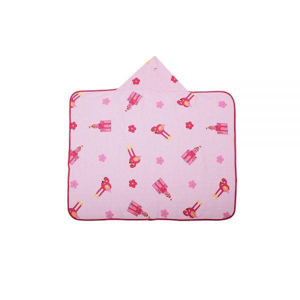 Toalha de banho bebê estampada com capuz Flamingo - Bambi