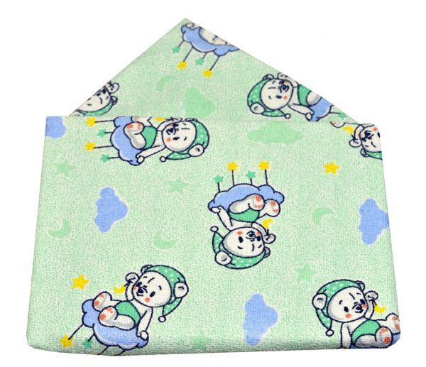 Toalha de banho bebê com capuz  Ursinho verde - Bambi