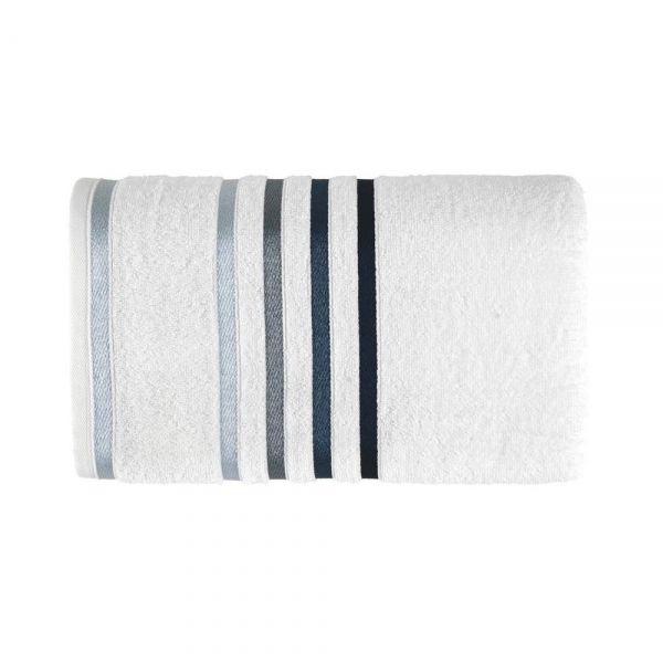 Toalha de banho Lumina - Branco/Azul - Karsten