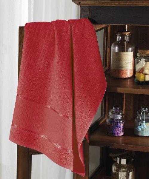 Toalha Banhão para bordar felpudo vermelho - Dohler