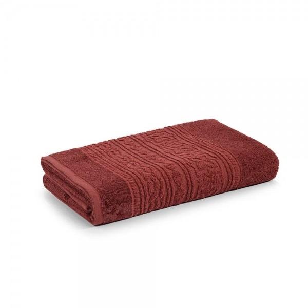 Toalha de banho Selene Ferrugem 100% algodão fio cardado - Karsten