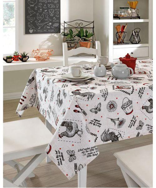 Toalha de mesa quadrada 4 lugares 1,40 m x 1,40 m Dohler Clean Athenas - Evelise 01