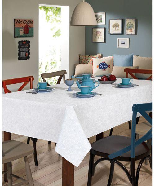 Toalha de mesa quadrada 4 lugares 1,40 m x 1,40 m Dohler Clean Athenas - Edite