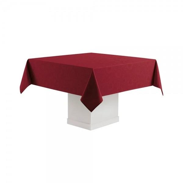 Toalha de mesa quadrada Sienna vermelho 8 lugares 1,80m x 1,80m - Karsten