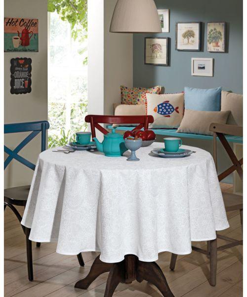 Toalha de mesa redonda 4 lugares 1,60 m Dohler Clean Athenas - Edite