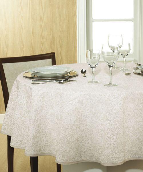 Toalha de mesa redonda 4 lugares 1,60 m Dohler Clean Athenas - Eliete