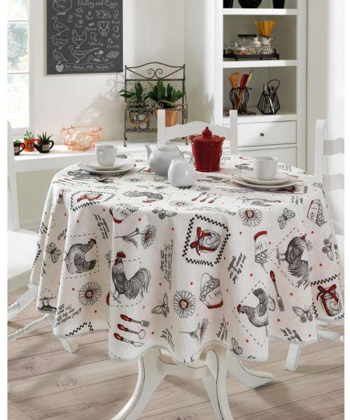 Toalha de mesa redonda 4 lugares 1,60 m Dohler Clean Athenas - Evelise 01