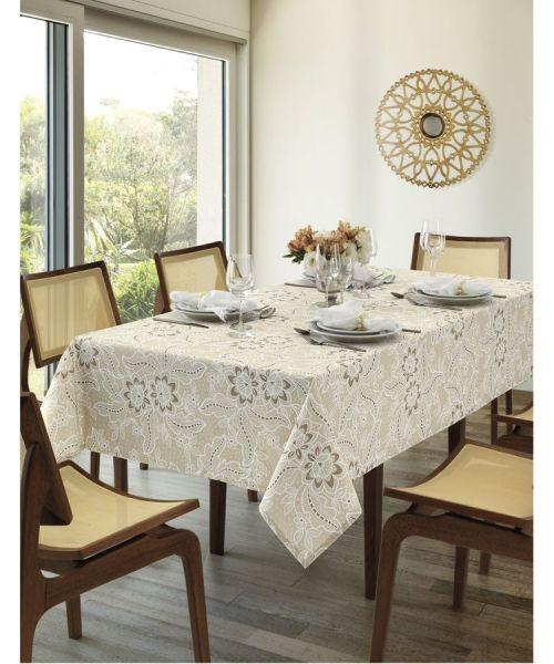 Toalha de mesa retangular 6 lugares 1,40 x 2,10m Dohler Clean Eloah