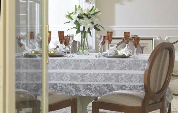 Toalha de mesa retangular 8 lugares Napoli 1,80m x 2,70m - Karsten Celebration