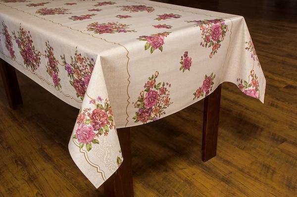 Toalha de mesa térmica Dekorama Floral bege/lilás