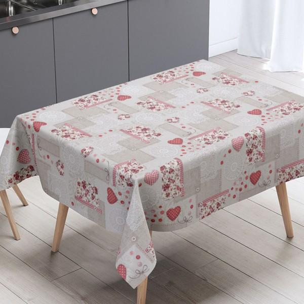 Toalha de mesa térmica Scrap Vermelho