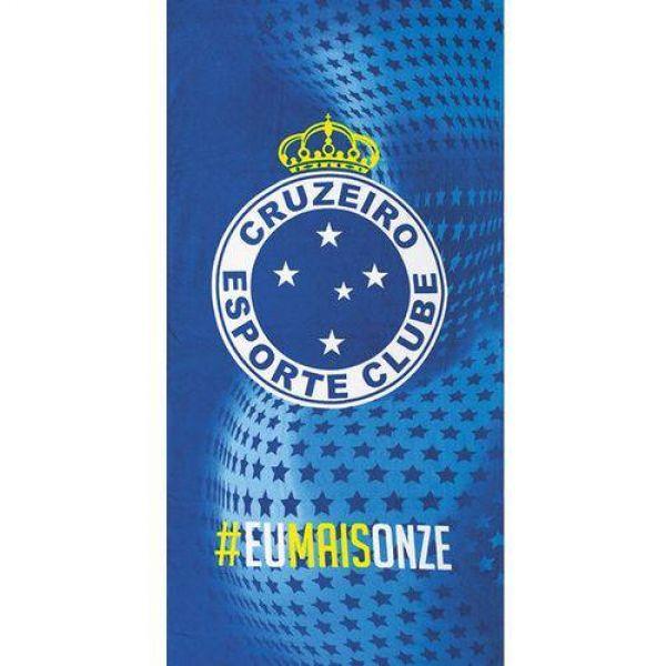 Toalha de praia Dohler estampada time Cruzeiro