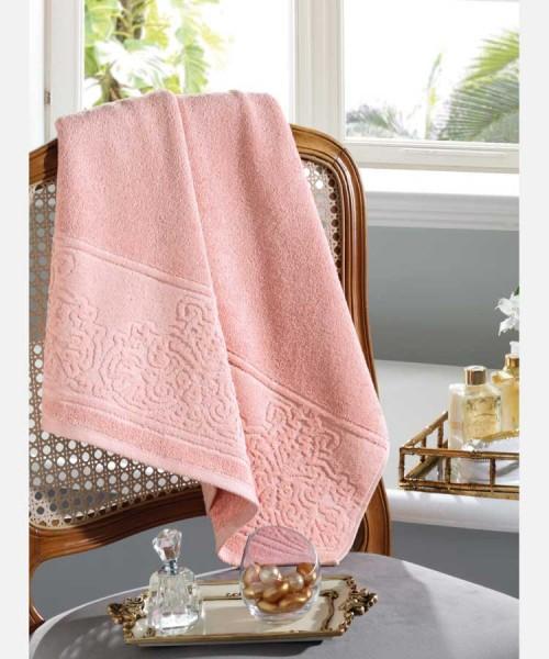 Toalha de Rosto 100% algodão Jacquard Confort Rosé - Dohler