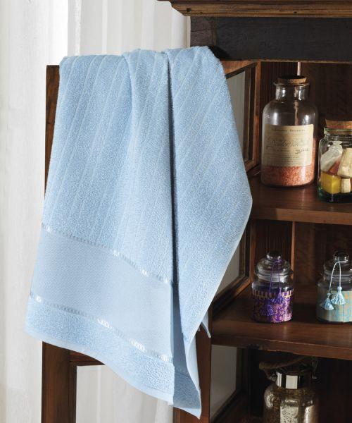 Toalha de rosto para bordar Felpudo Azul - Dohler